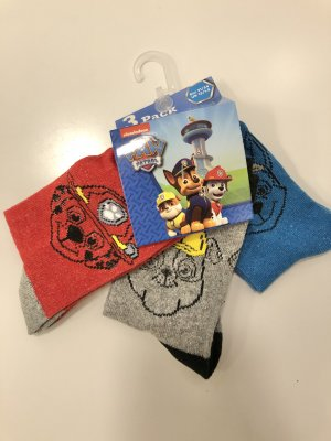 paw patrol t shirt röd cahse marshall rubble skye everest 3 par strumpor